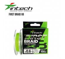 Шнур плетений Intech First Braid PE X8 Green 100м