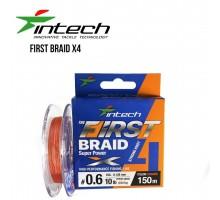 Шнур плетений Intech First Braid PE X4 Orange 150м