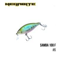 Воблер Megabite Samba 100F (60мм, 12,5гр, 1м)