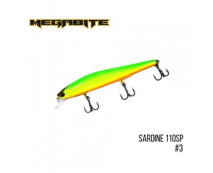 Воблер Megabite Sardine 110SP (110мм, 13,7гр, 1,2м)