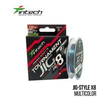 Шнур плетений Intech Tournament Jig Style PE X8 Multicolor 150м